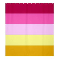 Red Orange Yellow Pink Sunny Color Combo Striped Pattern Stripes Shower Curtain 66  X 72  (large)