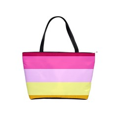 Red Orange Yellow Pink Sunny Color Combo Striped Pattern Stripes Shoulder Handbags