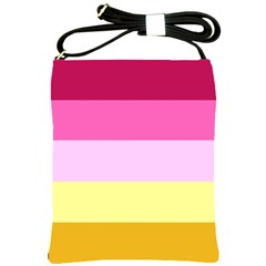 Red Orange Yellow Pink Sunny Color Combo Striped Pattern Stripes Shoulder Sling Bags