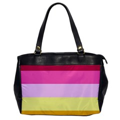Red Orange Yellow Pink Sunny Color Combo Striped Pattern Stripes Office Handbags