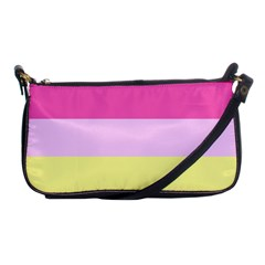 Red Orange Yellow Pink Sunny Color Combo Striped Pattern Stripes Shoulder Clutch Bags