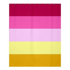 Red Orange Yellow Pink Sunny Color Combo Striped Pattern Stripes Shower Curtain 60  X 72  (medium)