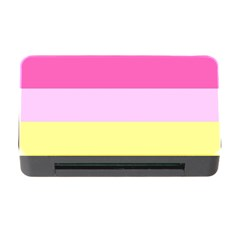 Red Orange Yellow Pink Sunny Color Combo Striped Pattern Stripes Memory Card Reader With Cf