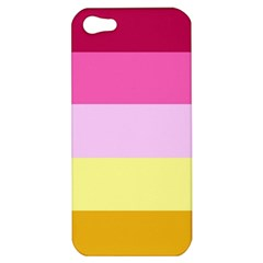 Red Orange Yellow Pink Sunny Color Combo Striped Pattern Stripes Apple Iphone 5 Hardshell Case