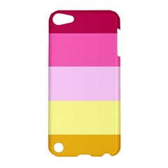 Red Orange Yellow Pink Sunny Color Combo Striped Pattern Stripes Apple Ipod Touch 5 Hardshell Case