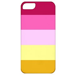 Red Orange Yellow Pink Sunny Color Combo Striped Pattern Stripes Apple Iphone 5 Classic Hardshell Case