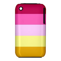 Red Orange Yellow Pink Sunny Color Combo Striped Pattern Stripes Iphone 3s/3gs