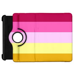 Red Orange Yellow Pink Sunny Color Combo Striped Pattern Stripes Kindle Fire Hd 7
