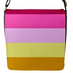 Red Orange Yellow Pink Sunny Color Combo Striped Pattern Stripes Flap Messenger Bag (s)
