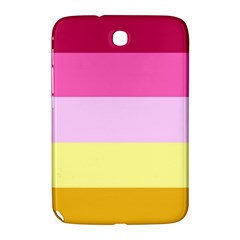 Red Orange Yellow Pink Sunny Color Combo Striped Pattern Stripes Samsung Galaxy Note 8 0 N5100 Hardshell Case