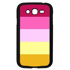 Red Orange Yellow Pink Sunny Color Combo Striped Pattern Stripes Samsung Galaxy Grand Duos I9082 Case (black)