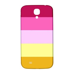 Red Orange Yellow Pink Sunny Color Combo Striped Pattern Stripes Samsung Galaxy S4 I9500/i9505  Hardshell Back Case