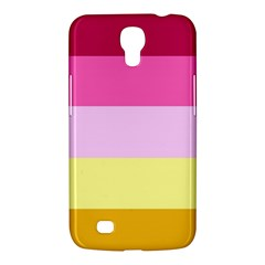Red Orange Yellow Pink Sunny Color Combo Striped Pattern Stripes Samsung Galaxy Mega 6 3  I9200 Hardshell Case