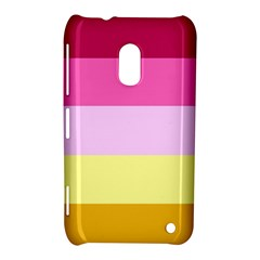Red Orange Yellow Pink Sunny Color Combo Striped Pattern Stripes Nokia Lumia 620