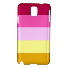 Red Orange Yellow Pink Sunny Color Combo Striped Pattern Stripes Samsung Galaxy Note 3 N9005 Hardshell Case