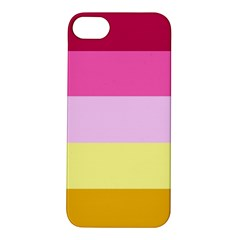 Red Orange Yellow Pink Sunny Color Combo Striped Pattern Stripes Apple Iphone 5s/ Se Hardshell Case