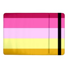 Red Orange Yellow Pink Sunny Color Combo Striped Pattern Stripes Samsung Galaxy Tab Pro 10 1  Flip Case