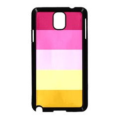 Red Orange Yellow Pink Sunny Color Combo Striped Pattern Stripes Samsung Galaxy Note 3 Neo Hardshell Case (black)