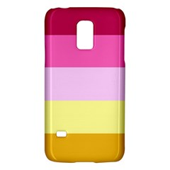 Red Orange Yellow Pink Sunny Color Combo Striped Pattern Stripes Galaxy S5 Mini