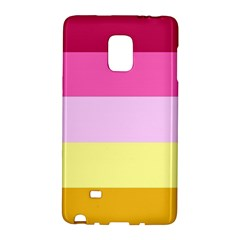 Red Orange Yellow Pink Sunny Color Combo Striped Pattern Stripes Galaxy Note Edge