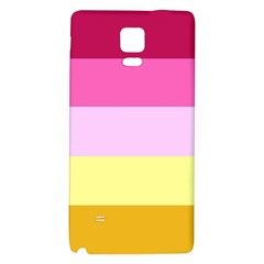 Red Orange Yellow Pink Sunny Color Combo Striped Pattern Stripes Galaxy Note 4 Back Case