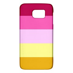 Red Orange Yellow Pink Sunny Color Combo Striped Pattern Stripes Galaxy S6