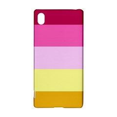 Red Orange Yellow Pink Sunny Color Combo Striped Pattern Stripes Sony Xperia Z3+