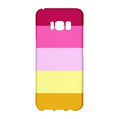 Red Orange Yellow Pink Sunny Color Combo Striped Pattern Stripes Samsung Galaxy S8 Hardshell Case