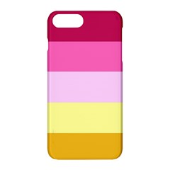 Red Orange Yellow Pink Sunny Color Combo Striped Pattern Stripes Apple Iphone 8 Plus Hardshell Case