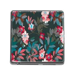 Floral Pattern Memory Card Reader (square)