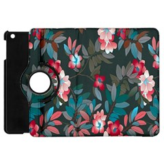 Floral Pattern Apple Ipad Mini Flip 360 Case