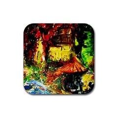 St Barbara Resort Rubber Square Coaster (4 Pack)  by bestdesignintheworld