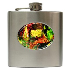 St Barbara Resort Hip Flask (6 Oz) by bestdesignintheworld