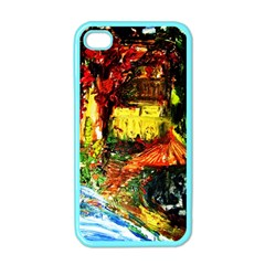 St Barbara Resort Apple Iphone 4 Case (color) by bestdesignintheworld