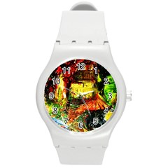 St Barbara Resort Round Plastic Sport Watch (m) by bestdesignintheworld