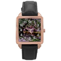 Old Tree 6 Rose Gold Leather Watch