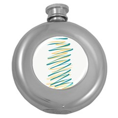 Twist Yellow Dark Green Round Hip Flask (5 Oz)