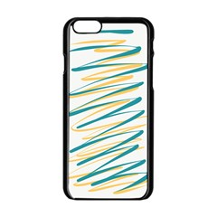 Twist Yellow Dark Green Apple Iphone 6/6s Black Enamel Case