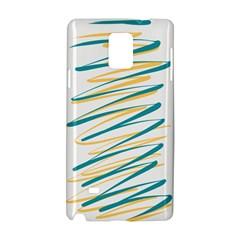 Twist Yellow Dark Green Samsung Galaxy Note 4 Hardshell Case