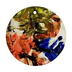 Painting And Letters Ornament (round)