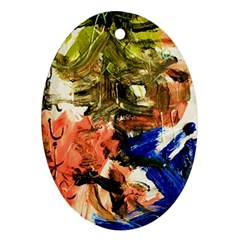 Painting And Letters Ornament (oval)