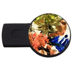 Painting And Letters Usb Flash Drive Round (2 Gb)