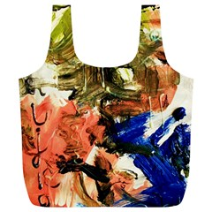 Painting And Letters Full Print Recycle Bags (l)