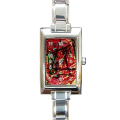 Sacred Marks Rectangle Italian Charm Watch