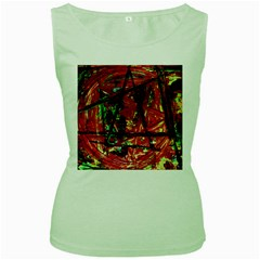 Sacred Marks Women s Green Tank Top