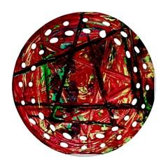 Sacred Marks Ornament (round Filigree)