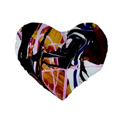 Immediate Attraction 2 Standard 16  Premium Flano Heart Shape Cushions by bestdesignintheworld