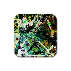 Jealousy   Battle Of Insects 4 Rubber Square Coaster (4 Pack)