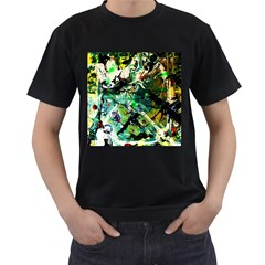 Jealousy   Battle Of Insects 4 Men s T Shirt (black) (two Sided)