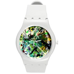 Jealousy   Battle Of Insects 4 Round Plastic Sport Watch (m)